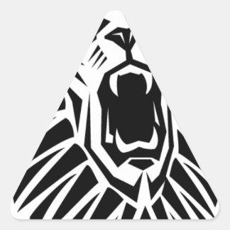 Adesivo Triangular vecto principal do leão