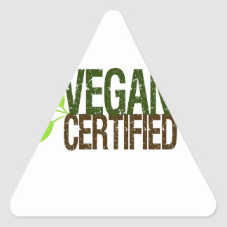 Adesivo Triangular Vegan certificado
