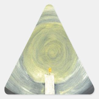 Adesivo Triangular Vela que ilumina-se acima da noite