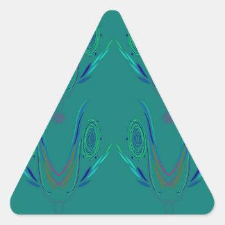 Adesivo Triangular Verde do nordic dos elementos do design