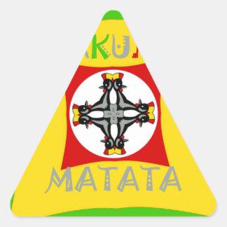 Adesivo Triangular Verde dourado vermelho da cor de Hakuna Matata