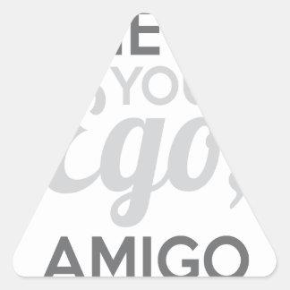 Adesivo Triangular Verifique seu amigo do ego