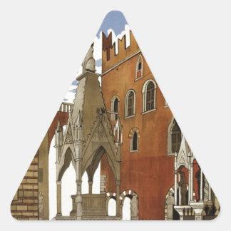 Adesivo Triangular Viagem de Verona do vintage