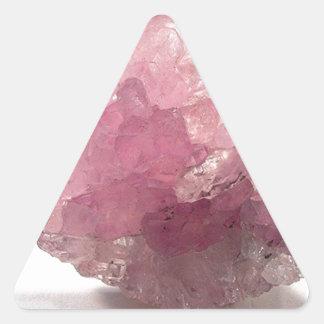 Adesivo Triangular Viajantes da felicidade de quartzo cor-de-rosa