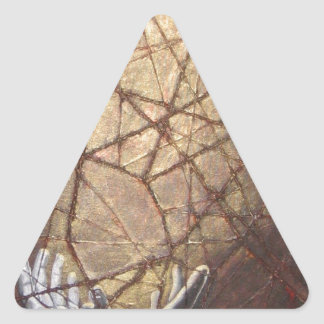 Adesivo Triangular Vidro quebrado e luz solar