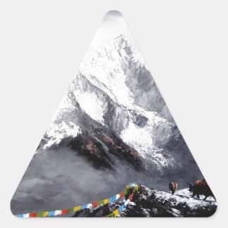 Adesivo Triangular Vista panorâmica da montanha de Everest