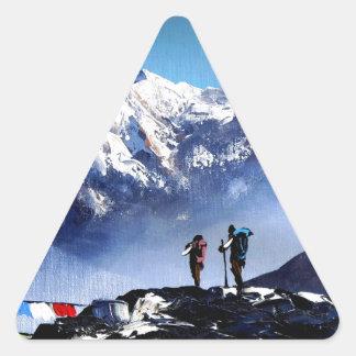 Adesivo Triangular Vista panorâmica da montanha máxima de Ama Dablam