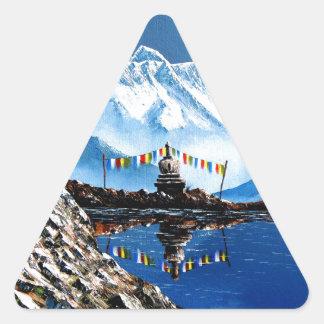 Adesivo Triangular Vista panorâmica da montanha Nepal de Annapurna
