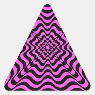 Adesivo Triangular Vortex cor-de-rosa
