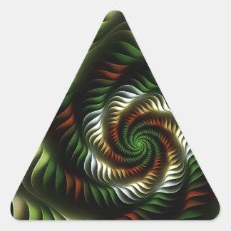 Adesivo Triangular Vortex do Fractal