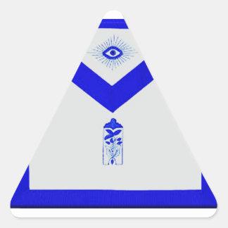 Adesivo Triangular Warden júnior maçónico Avental