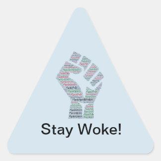 Adesivo Triangular #WokeWednesdays