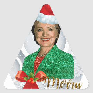 Adesivo Triangular xmas Hillary clinton da feliz