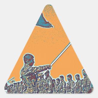 Adesivo Triangular YPG curdos - YPJ Figters do cargo do Curdistão de