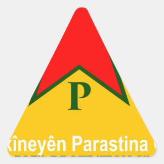 Adesivo Triangular ypg-ypj - kobani do apoio