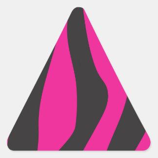 Adesivo Triangular Zebra cor-de-rosa