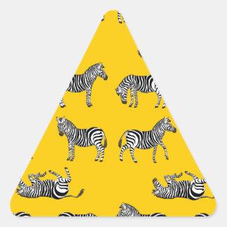 Adesivo Triangular Zebra selecção