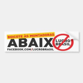 Adesivo veicular Abaixo Lucro Brasil