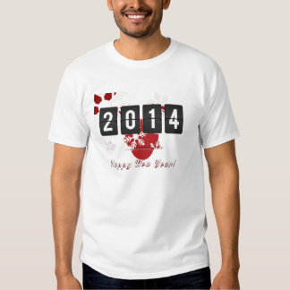 Adeus 2014 do deus do feliz ano novo 2013 t-shirts