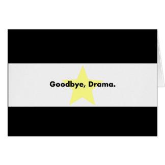 Adeus, cartão do drama