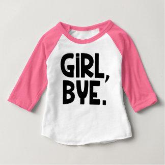 Adeus da menina, camisa engraçada do bebé