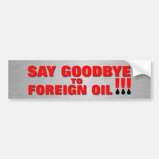 Adeus óleo estrangeiro adesivo para carro