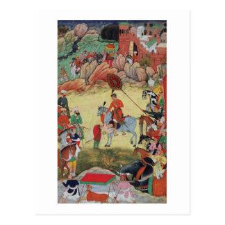 Adham Khan que paga a homenagem a Akbar em Cartão Postal