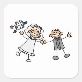 Adhesivo do sello do boda do la de Sobre Adesivo Quadrado