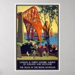 Adiante o poster das viagens vintage da ponte