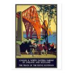 Adiante ponte - arte do poster das viagens vintage cartoes postais
