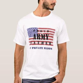 Adicione a camisa orgulhosa conhecida do pai do