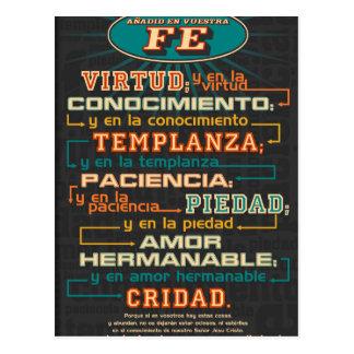 Adicione a seus versos espanhóis da bíblia da fé cartão postal