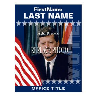 Adicione o modelo da campanha da foto | cartão postal