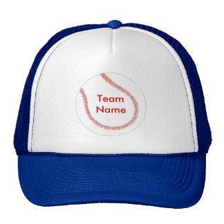 Adicione o nome da equipe, chapéus de basebol boné