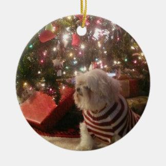Adicione o ornamento da árvore de Natal da