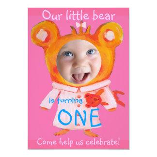 adicione o primeiro aniversario engraçado bonito convites personalizado