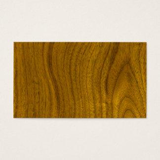 Adicione o texto ao fundo de madeira cartão de visitas