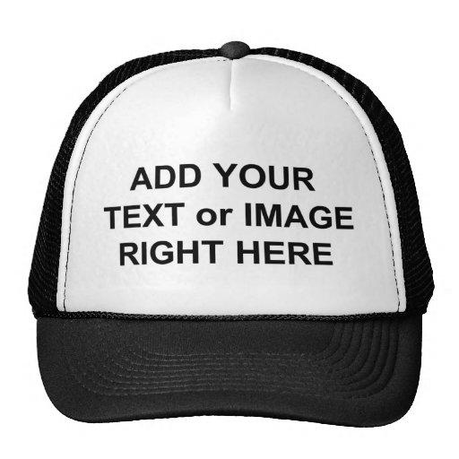 Adicione o texto e as imagens para personalizar pr bonés