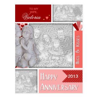 ADICIONE SEU aniversário das FOTOS que beija Cartão Postal