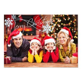 Adicione seu cartão de Natal da foto Convite 12.7 X 17.78cm