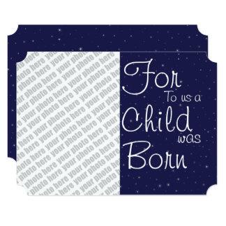 Adicione seu cartão do feriado da foto convite 12.7 x 17.78cm