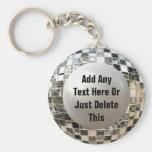 Adicione seu chaveiro legal da bola do espelho do