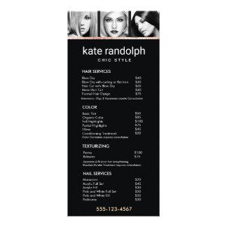 Adicione seu próprio menu preto da tabela de