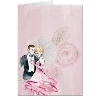 Adicione seu próprio texto: Casal romântico do Cartão Comemorativo