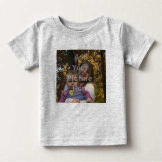 Adicione seu próprio Tshirt do bebê da foto Camiseta Para Bebê