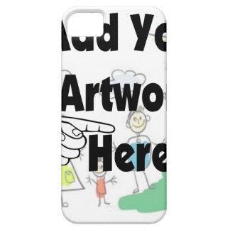 Adicione seus próprios trabalhos de arte ou capa barely there para iPhone 5