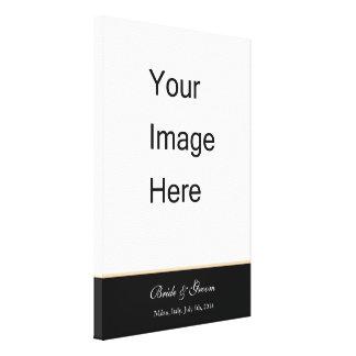 Adicione sua cópia das canvas da foto do casamento impressão de canvas esticadas