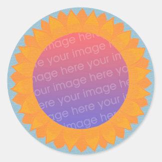 Adicione suas etiquetas da foto, quadro do círculo adesivos redondos
