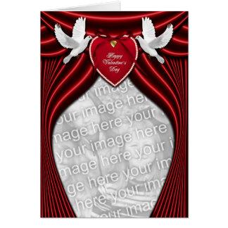 ADICIONE SUAS pombas do amor da FOTO para o dia Cartão Comemorativo