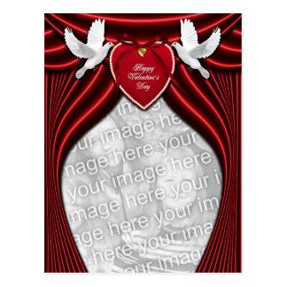 ADICIONE SUAS pombas do amor da FOTO para o dia Cartão Postal